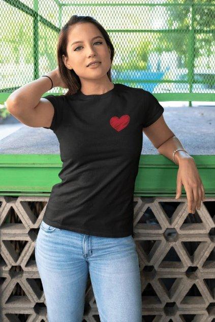 Dámske tričko Červené srdce