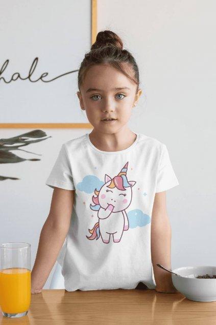 Dievčenské tričko Jednorožec