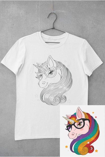Detské tričko vymaľuj si Koník jednorožec
