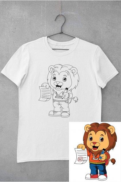 Detské tričko vymaľuj si Lev