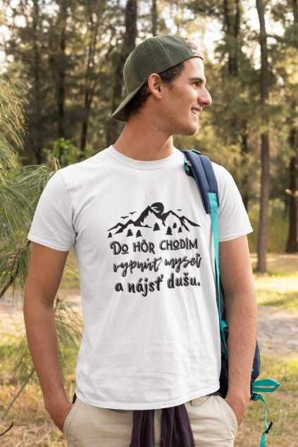 Pánske tričko Do hôr chodím