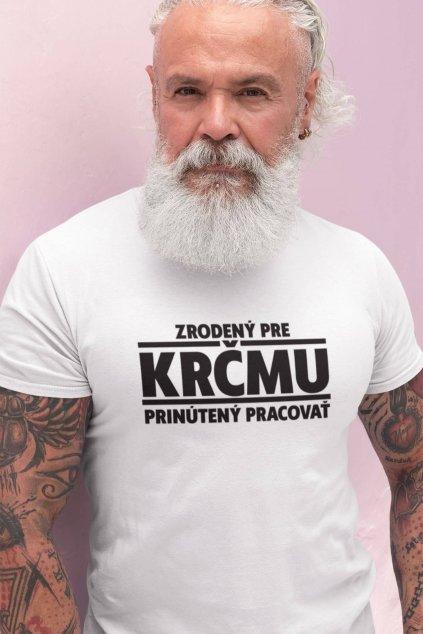 Pánske tričko Zrodený pre krčmu