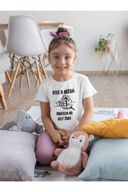 Detské tričko pre dcéru Otec a dcéra
