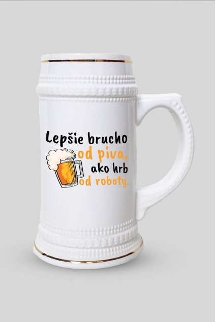 Pivný krígeľ Lepšie brucho od piva