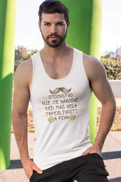 tank top mockup featuring a serious looking man by concrete columns 32543 (1)