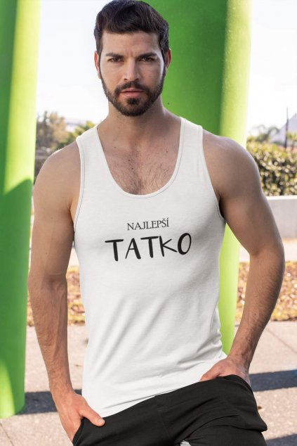 tank top mockup featuring a serious looking man by concrete columns 32543 (3)