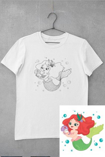 Detské tričko vymaľuj si Morská panna