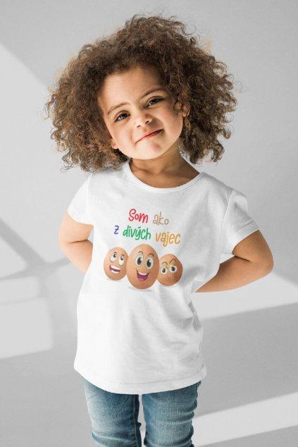 Detské tričko s krátkym rukávom Z divých vajec