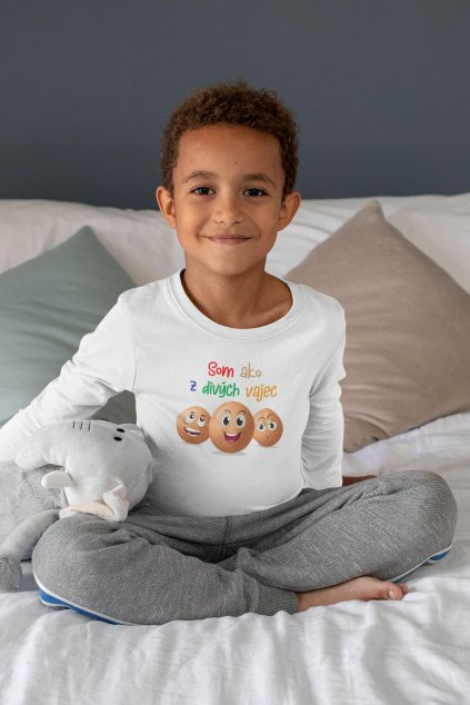 Detské tričko s dlhým rukávom Z divých vajec