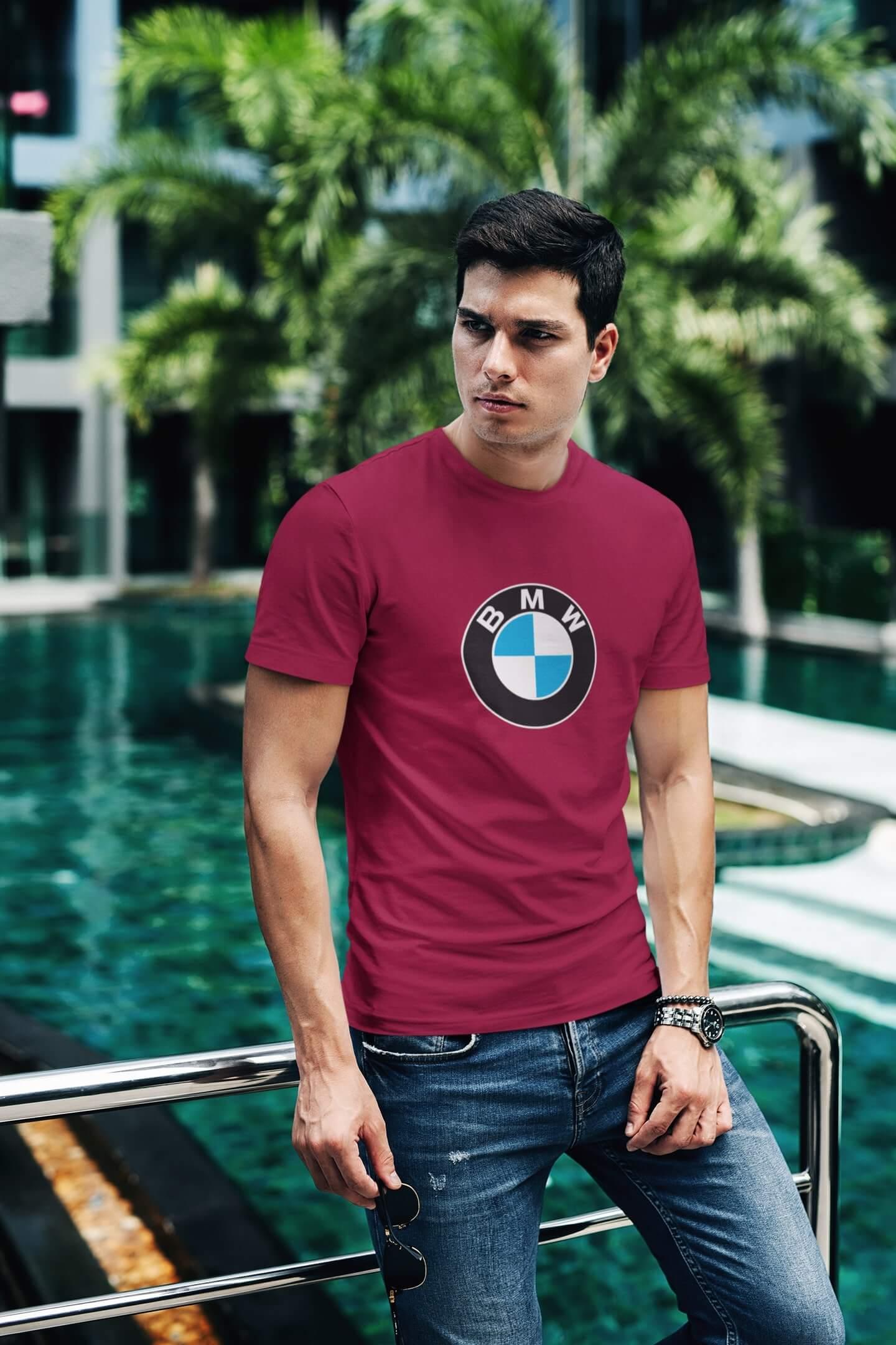 MMO Tričko s logom auta BMW Vyberte farbu: Marlboro červená, Vyberte veľkosť: XL
