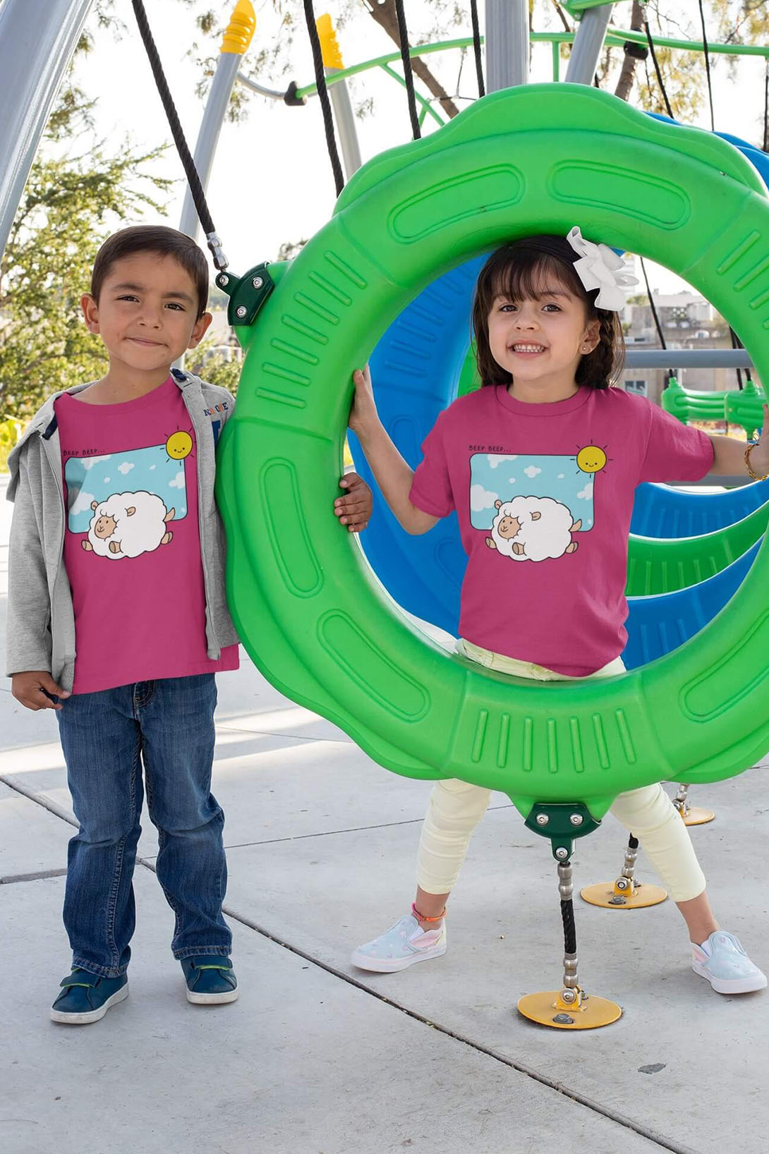 MMO Detské tričko Šťastná ovečka Vyberte farbu:: Limetková, Detská veľkosť: 110/4 roky