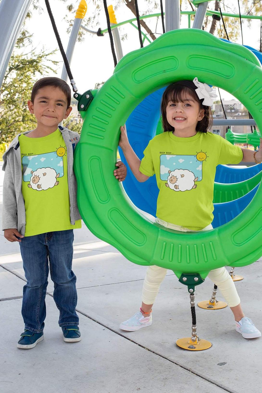 MMO Detské tričko Šťastná ovečka Vyberte farbu:: Malinová, Detská veľkosť: 110/4 roky