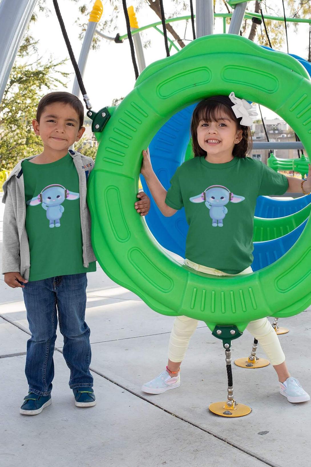 MMO Detské tričko Zajac so slúchadlami Vyberte farbu:: Malinová, Detská veľkosť: 122/6 rokov