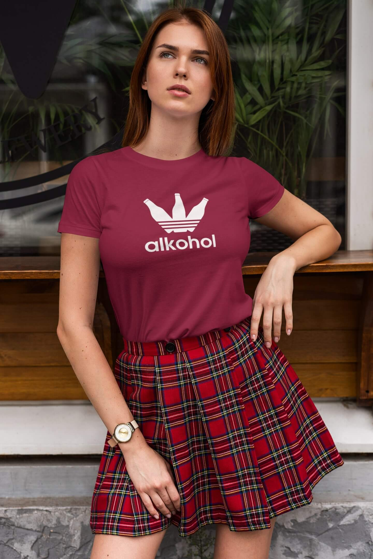 MMO Dámske tričko s Flaškami Vyberte farbu: Marlboro červená, Vyberte veľkosť: XL