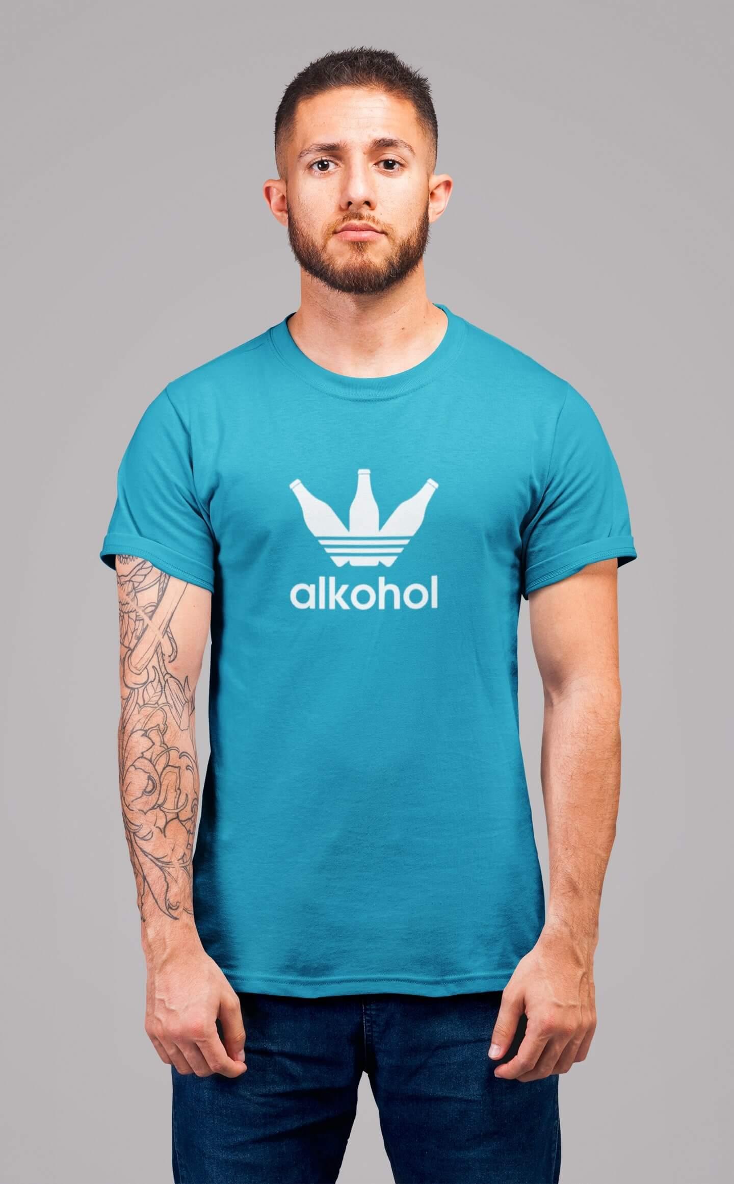 MMO Pánske tričko s flaškami Vyberte farbu: Tyrkysová, Vyberte veľkosť: S