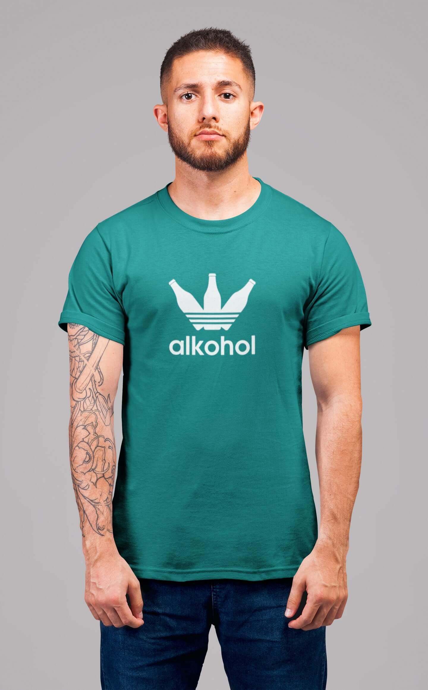 MMO Pánske tričko s flaškami Vyberte farbu: Smaragdovozelená, Vyberte veľkosť: S