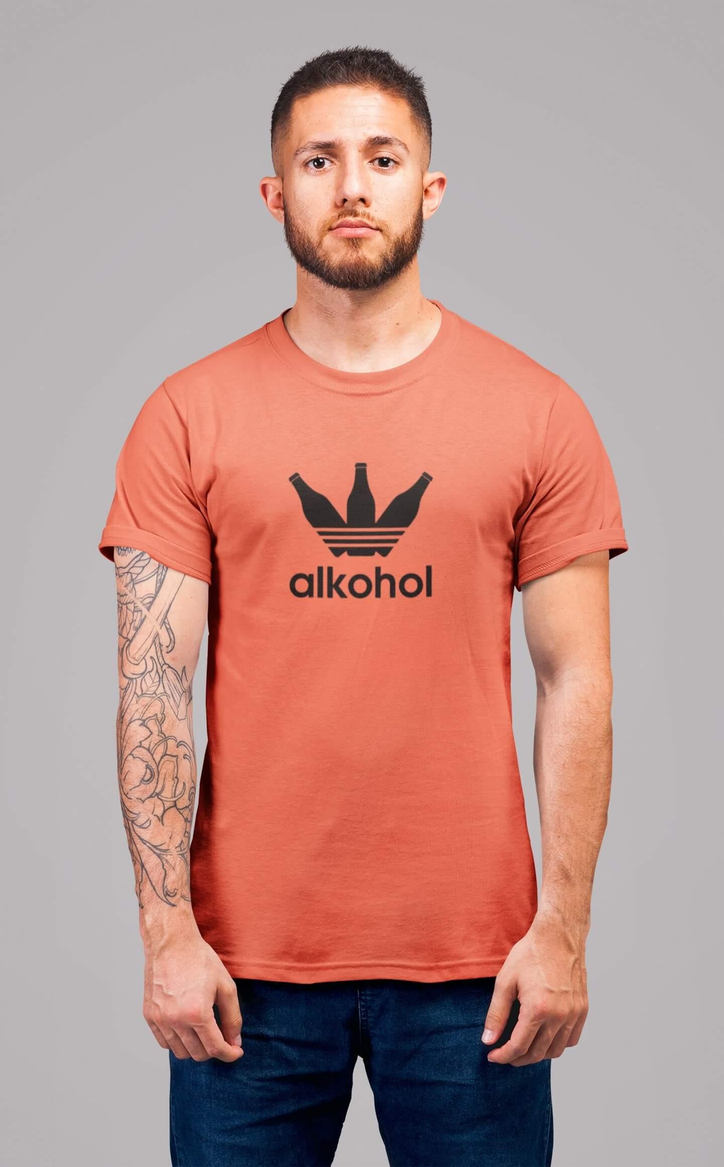 MMO Pánske tričko s flaškami Vyberte farbu: Korálová, Vyberte veľkosť: S