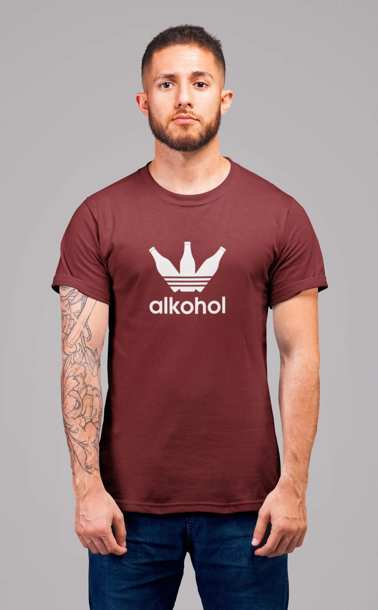 MMO Pánske tričko s flaškami Vyberte farbu: Bordová, Vyberte veľkosť: S