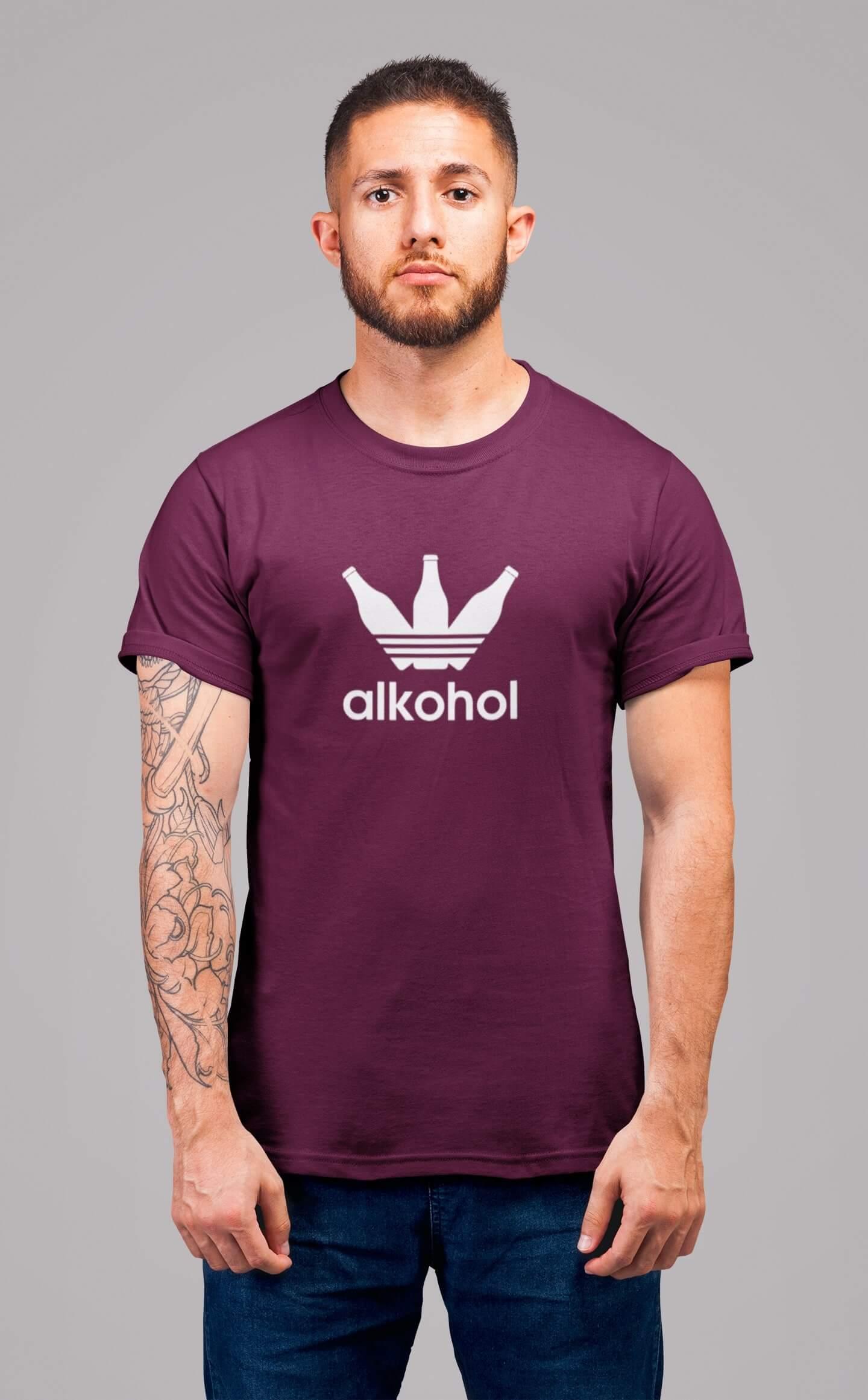 MMO Pánske tričko s flaškami Vyberte farbu: Fuchsiová, Vyberte veľkosť: S