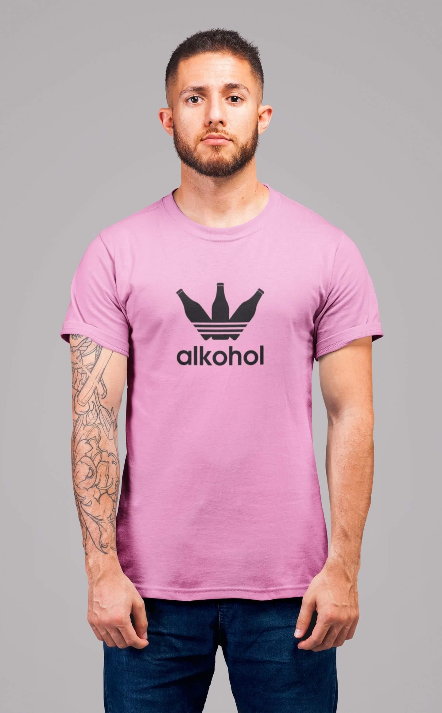 MMO Pánske tričko s flaškami Vyberte farbu: Ružová, Vyberte veľkosť: S