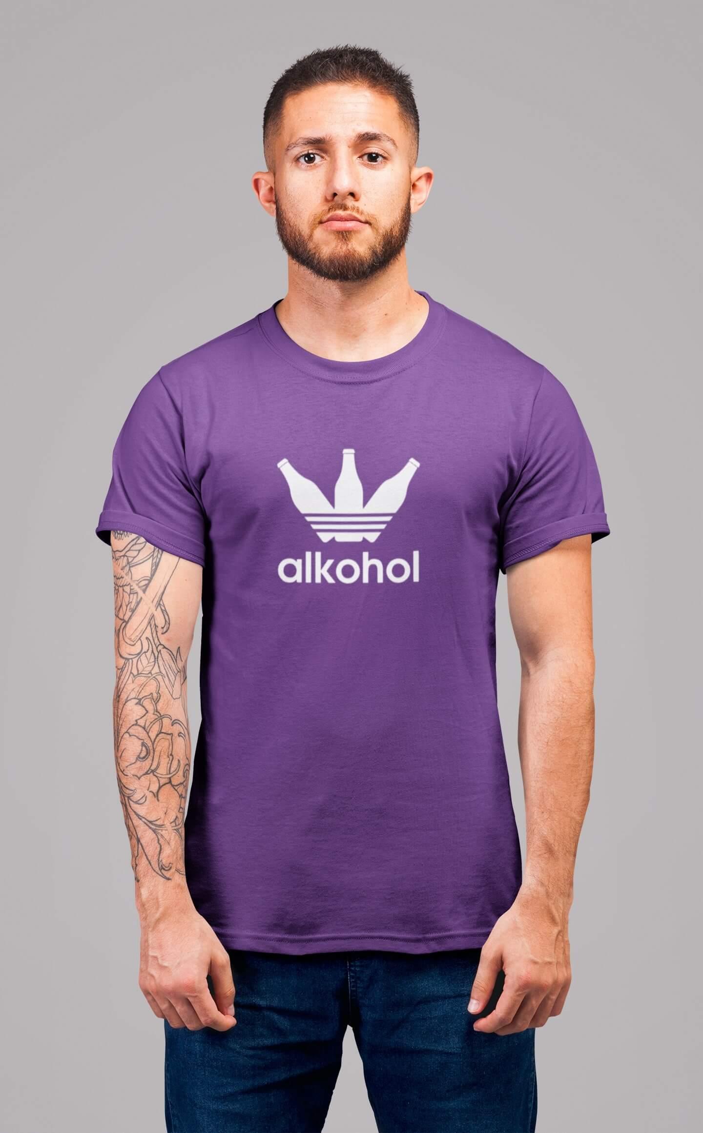 MMO Pánske tričko s flaškami Vyberte farbu: Fialová, Vyberte veľkosť: S
