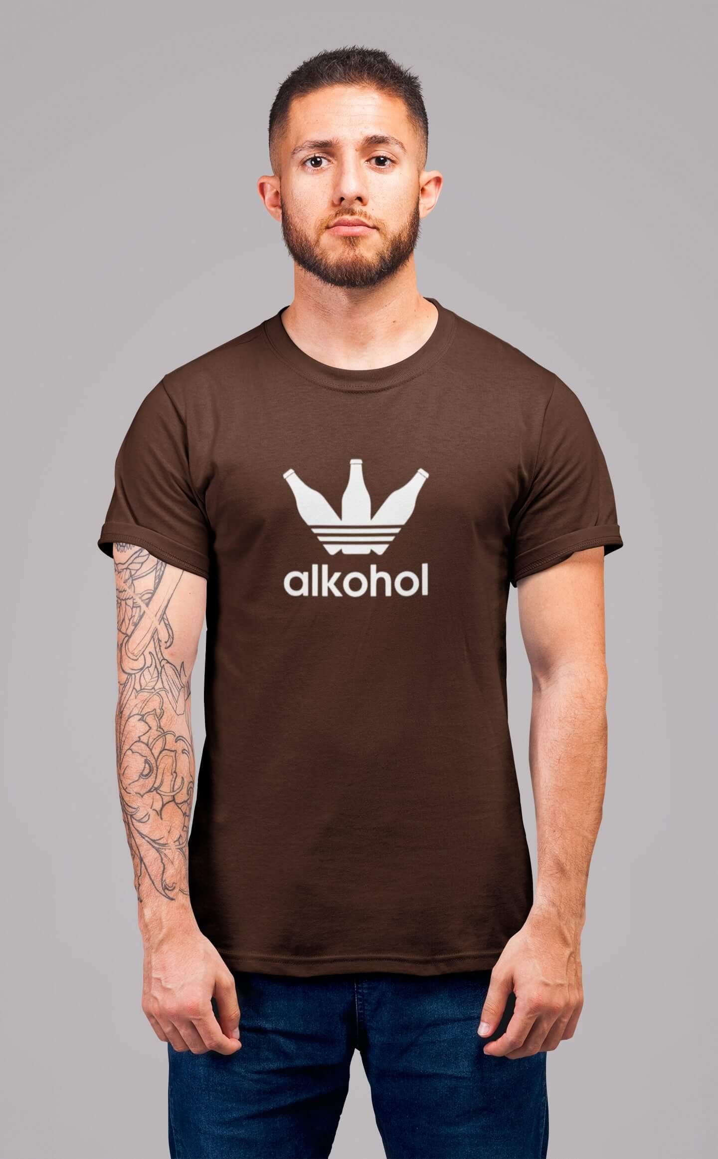 MMO Pánske tričko s flaškami Vyberte farbu: Čokoládová, Vyberte veľkosť: S