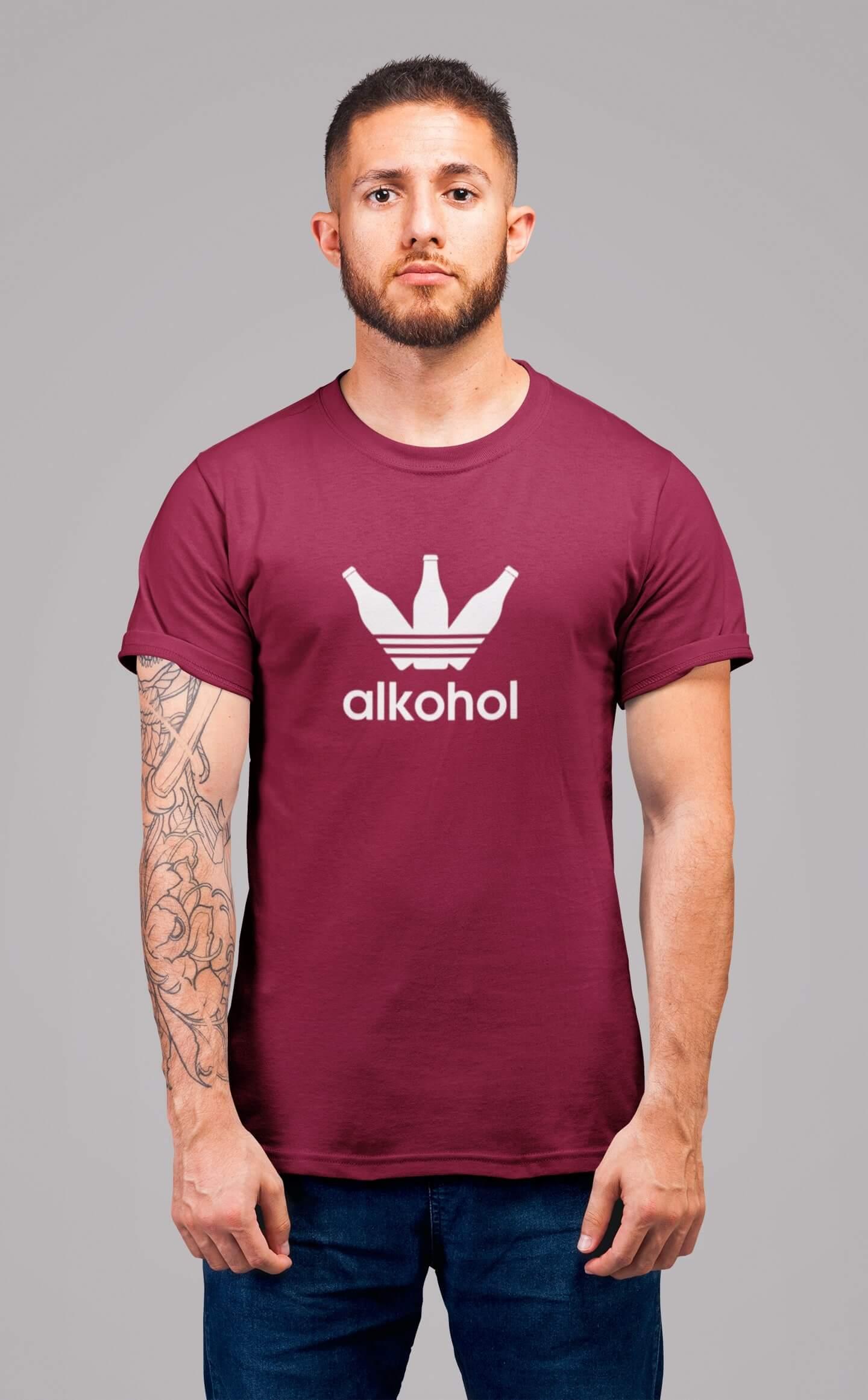 MMO Pánske tričko s flaškami Vyberte farbu: Marlboro červená, Vyberte veľkosť: XL