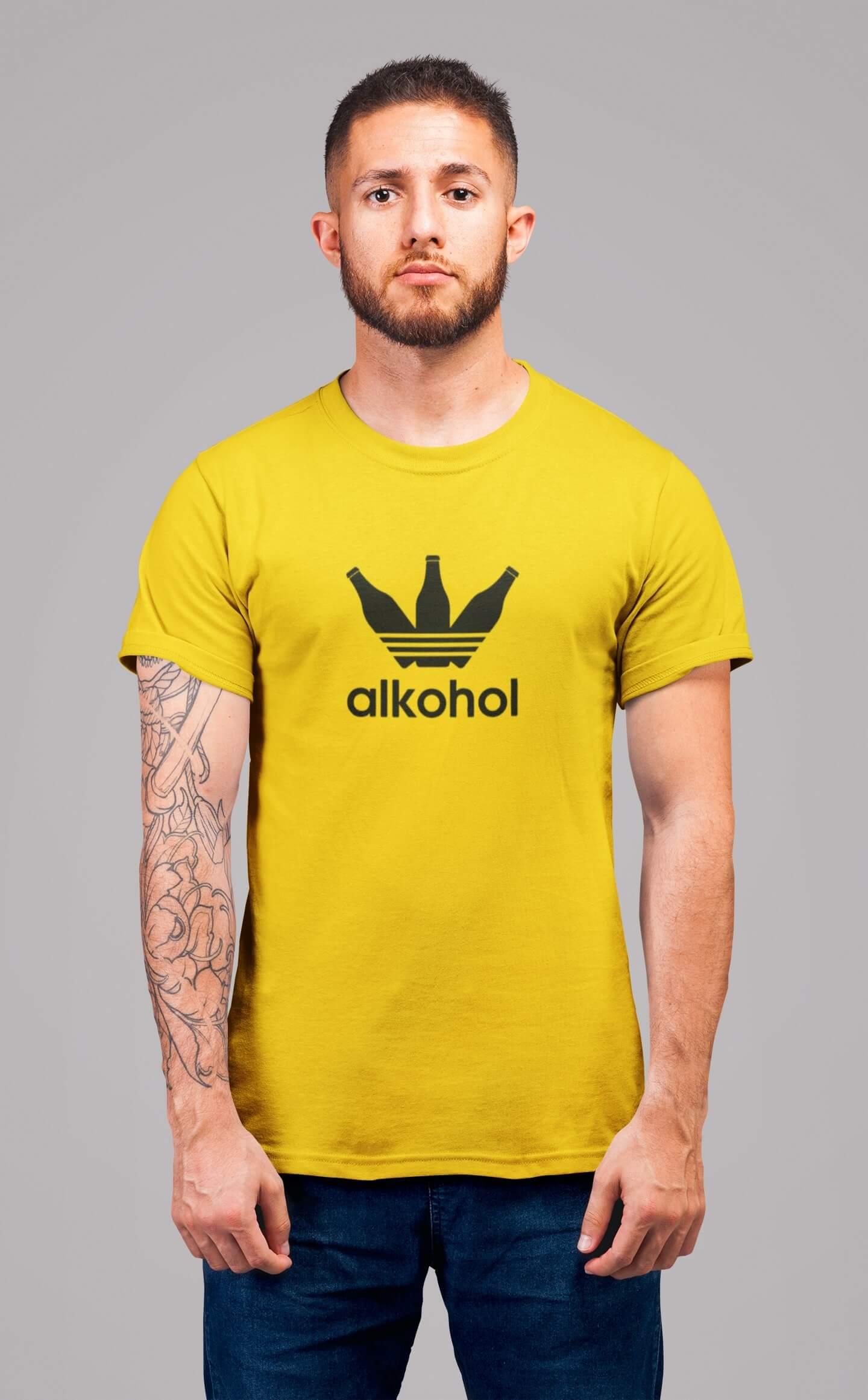 MMO Pánske tričko s flaškami Vyberte farbu: Žltá, Pánska veľkosť: S
