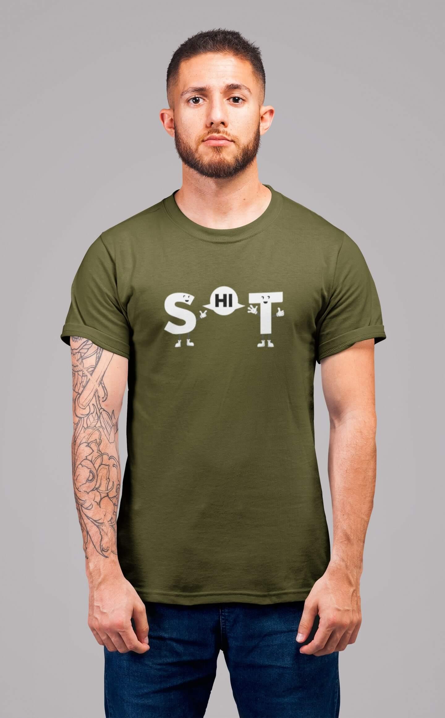 MMO Pánske tričko s vtipným nápisom Vyberte farbu: Khaki, Pánska veľkosť: S