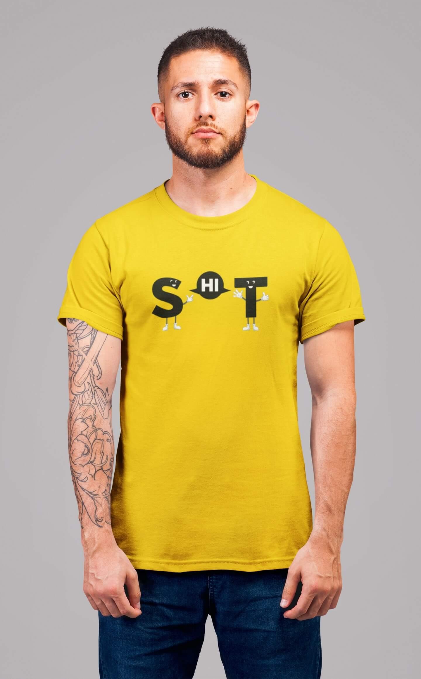 MMO Pánske tričko s vtipným nápisom Vyberte farbu: Žltá, Pánska veľkosť: S