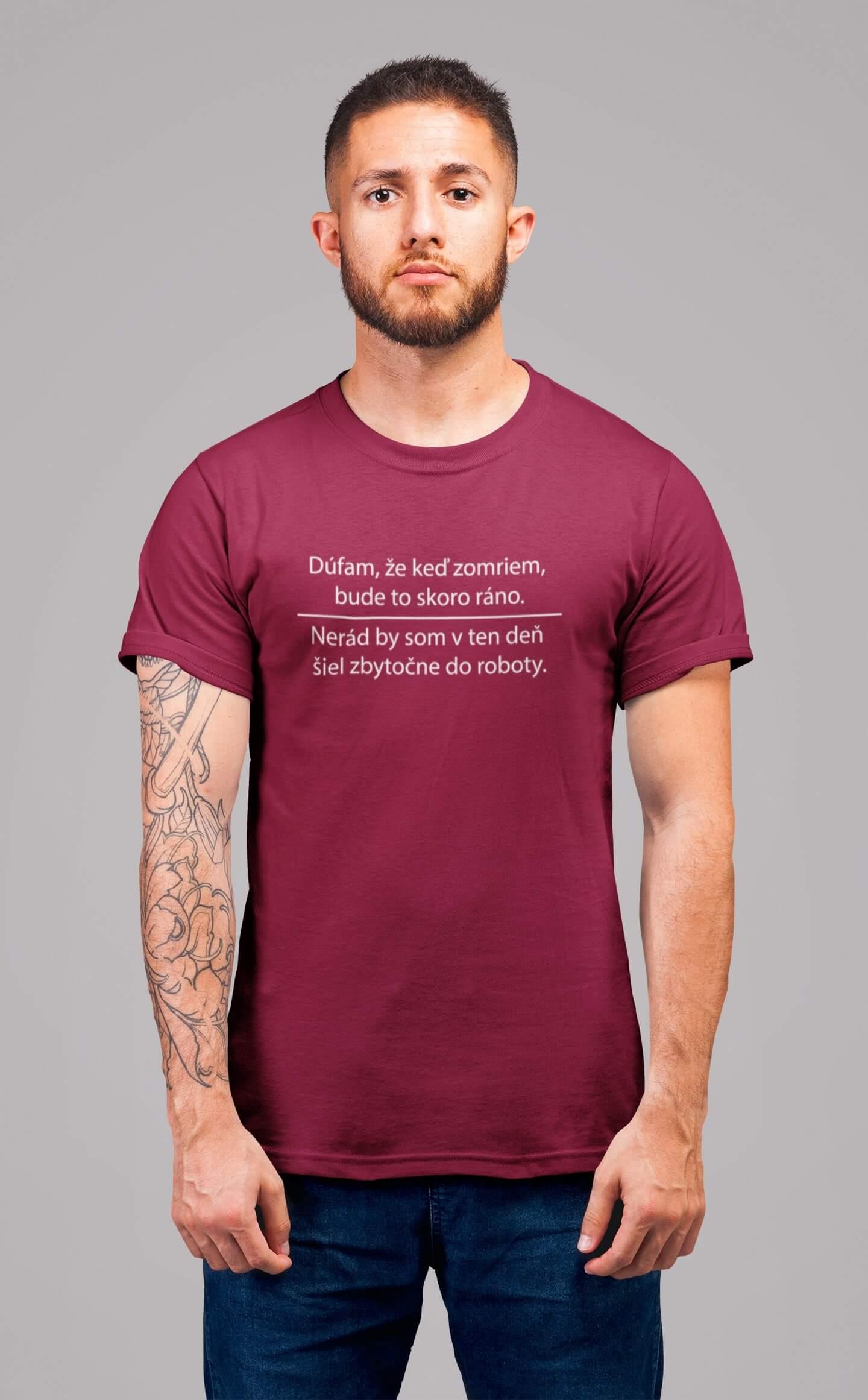 MMO Pánske tričko Robota Vyberte farbu: Marlboro červená, Vyberte veľkosť: L