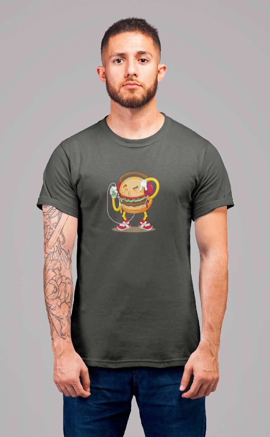 MMO Pánske tričko Hamburger Vyberte farbu: Tmavá bridlica, Vyberte veľkosť: XL