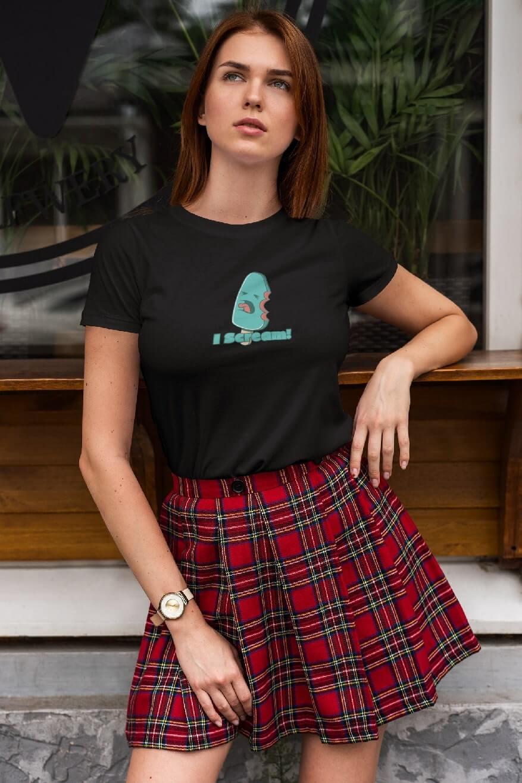 MMO Dámske tričko I SCREAM! Vyberte farbu: Čierna, Vyberte veľkosť: M