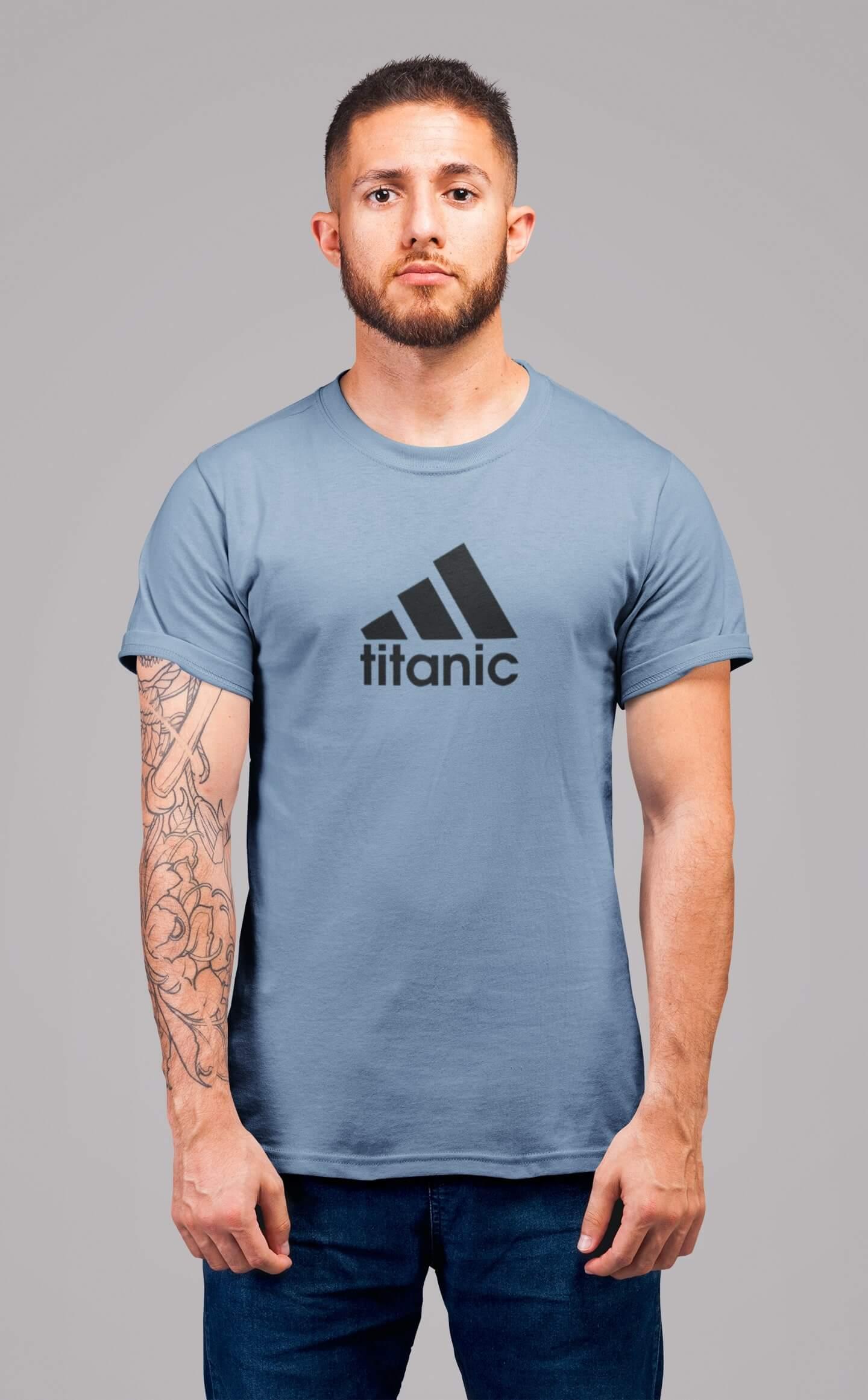 MMO Pánske tričko Titanic Vyberte farbu: Nebeská modrá, Vyberte veľkosť: XL