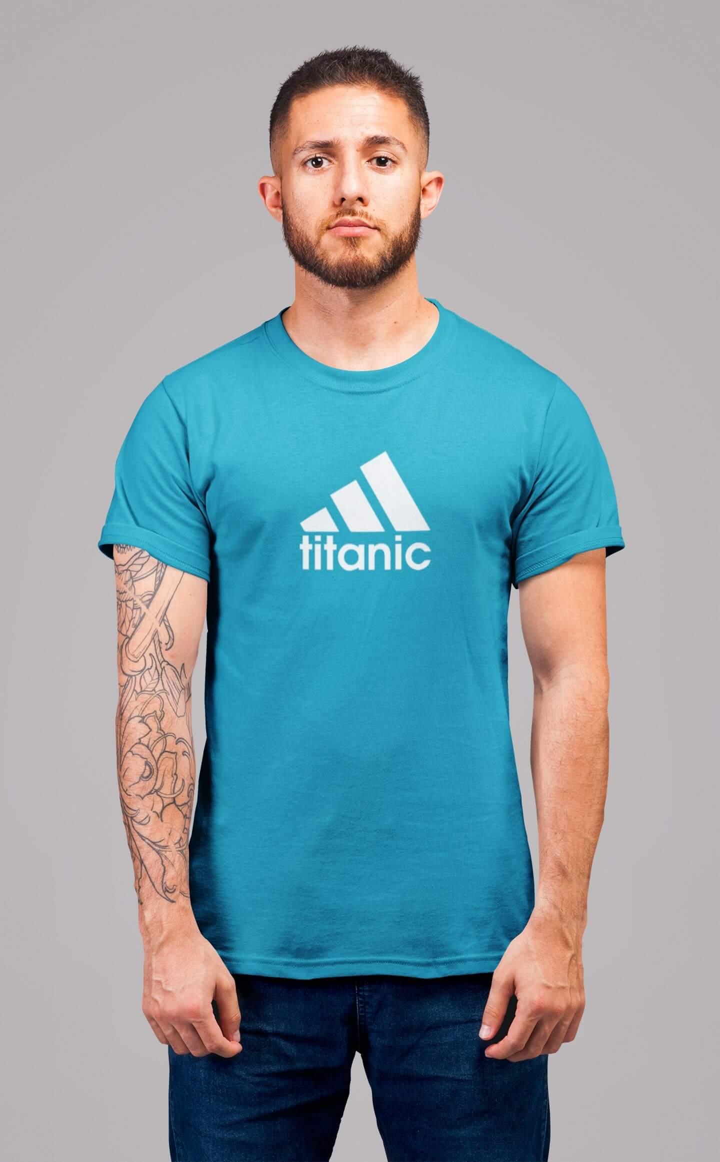 MMO Pánske tričko Titanic Vyberte farbu: Tyrkysová, Vyberte veľkosť: 2XL