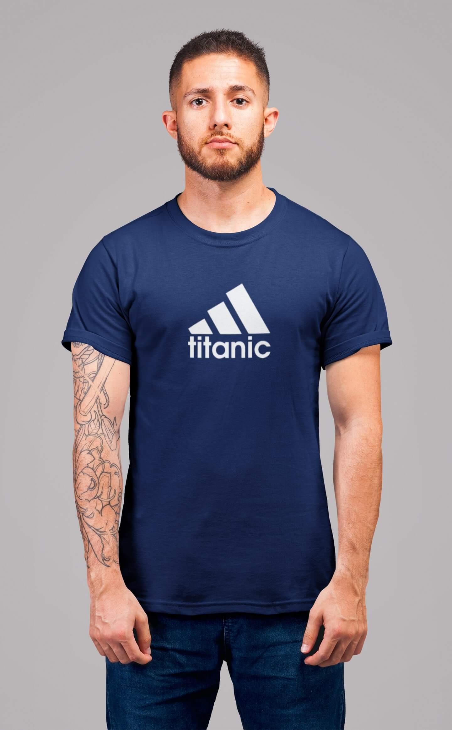 MMO Pánske tričko Titanic Vyberte farbu: Polnočná modrá, Vyberte veľkosť: XL