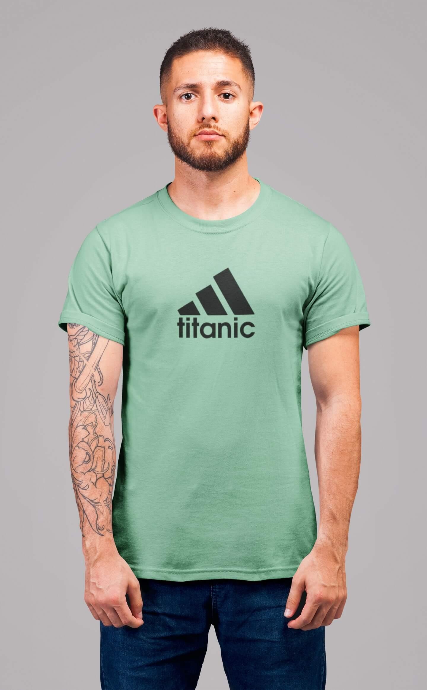 MMO Pánske tričko Titanic Vyberte farbu: Mätová, Vyberte veľkosť: 2XL