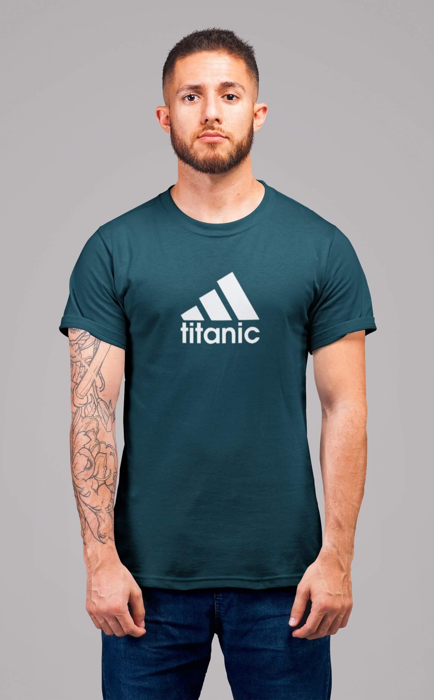 MMO Pánske tričko Titanic Vyberte farbu: Petrolejová modrá, Vyberte veľkosť: XL