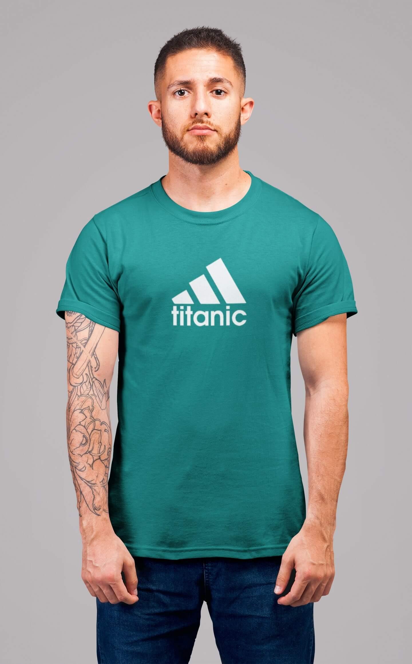 MMO Pánske tričko Titanic Vyberte farbu: Smaragdovozelená, Vyberte veľkosť: 2XL