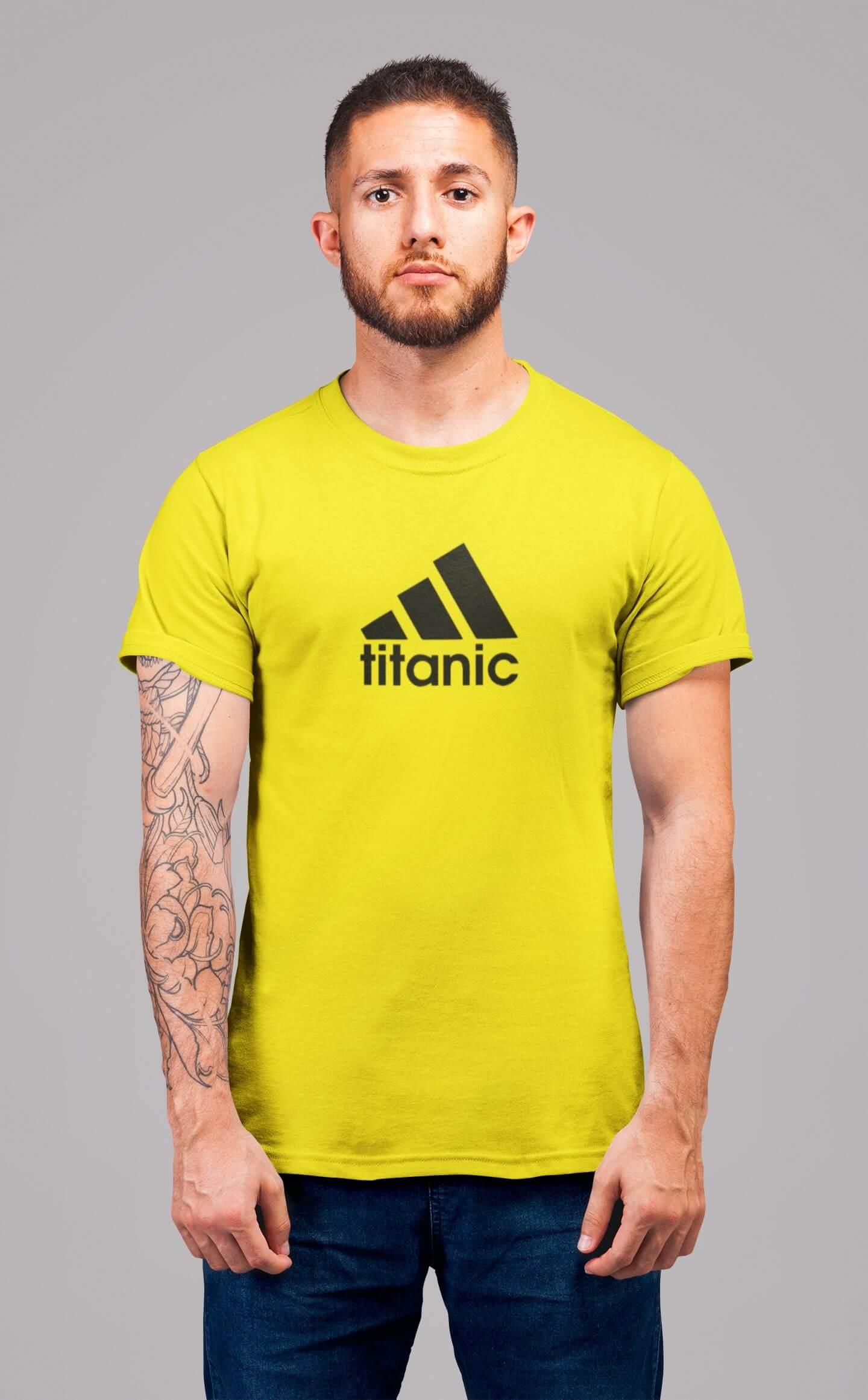 MMO Pánske tričko Titanic Vyberte farbu: Citrónová, Vyberte veľkosť: XS