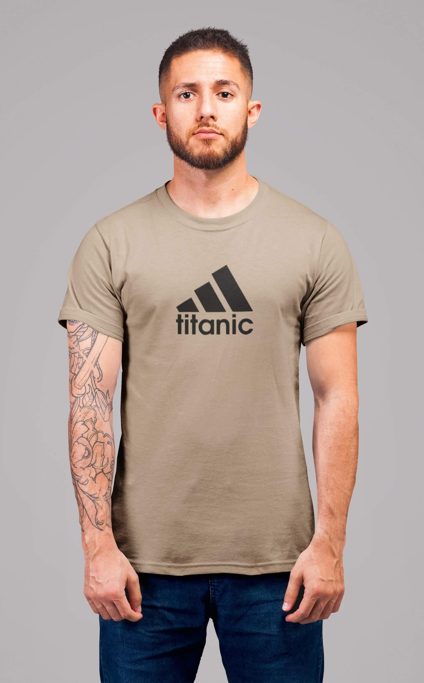 MMO Pánske tričko Titanic Vyberte farbu: Piesková, Vyberte veľkosť: XL