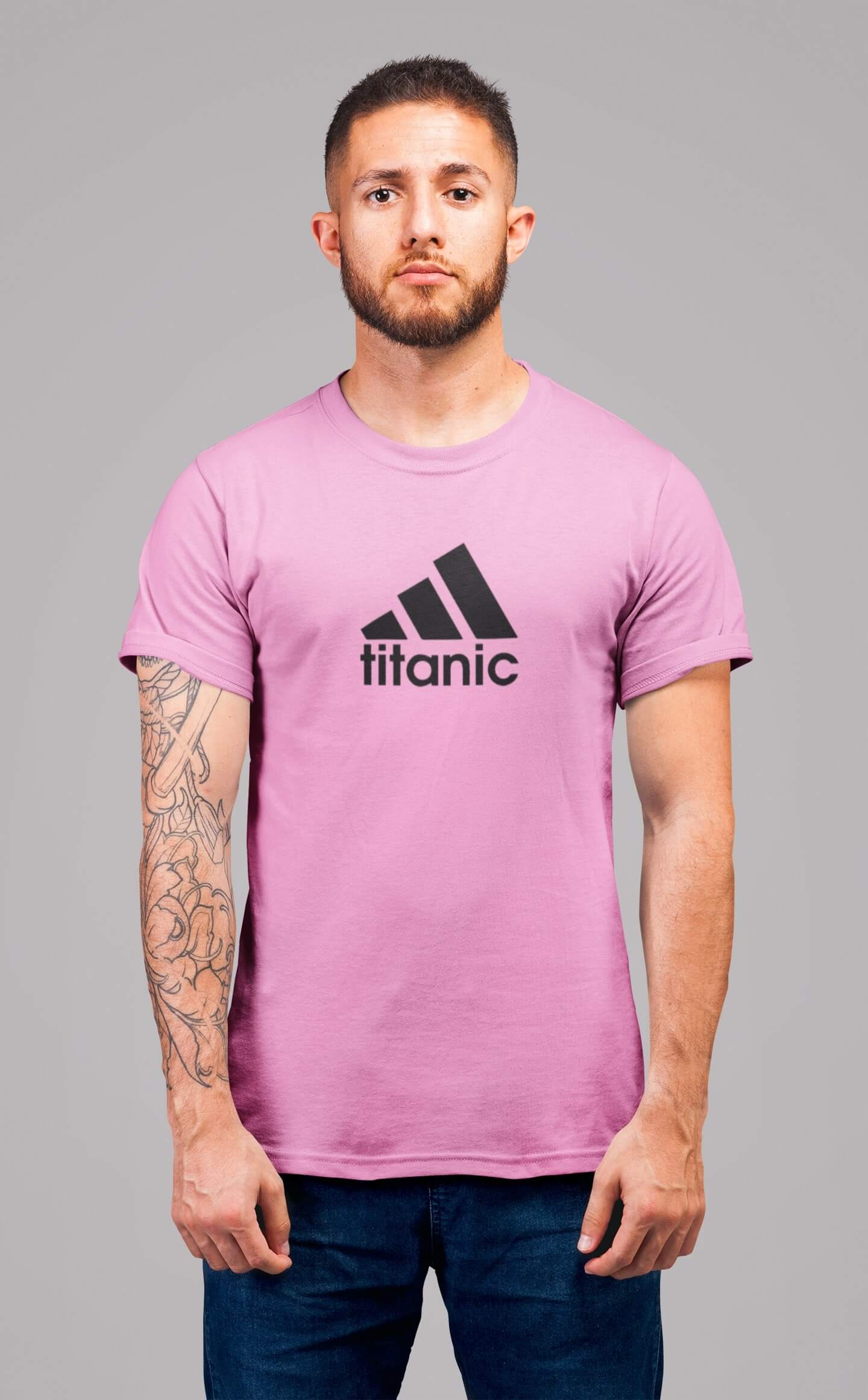MMO Pánske tričko Titanic Vyberte farbu: Ružová, Vyberte veľkosť: XS