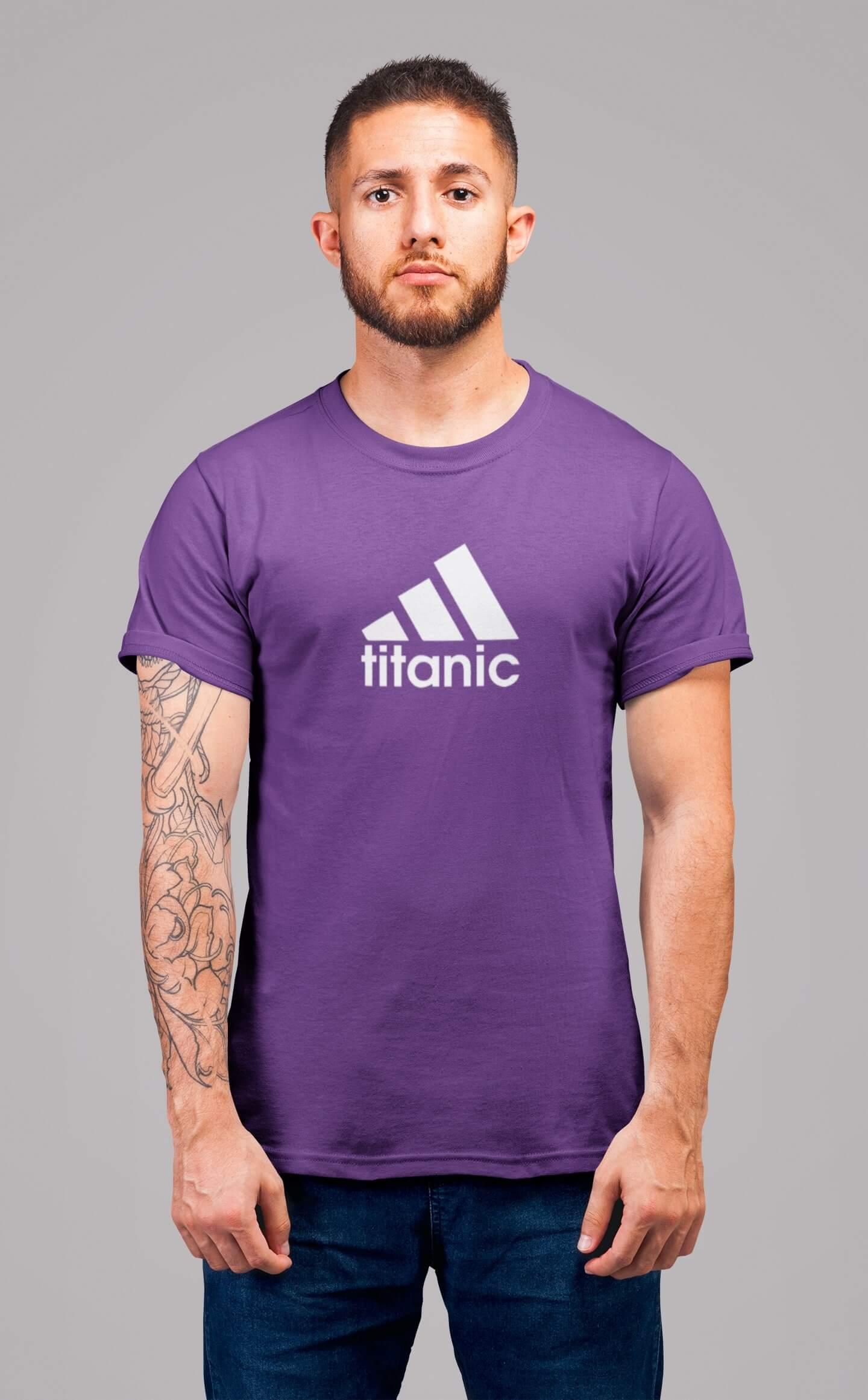 MMO Pánske tričko Titanic Vyberte farbu: Fialová, Vyberte veľkosť: XS