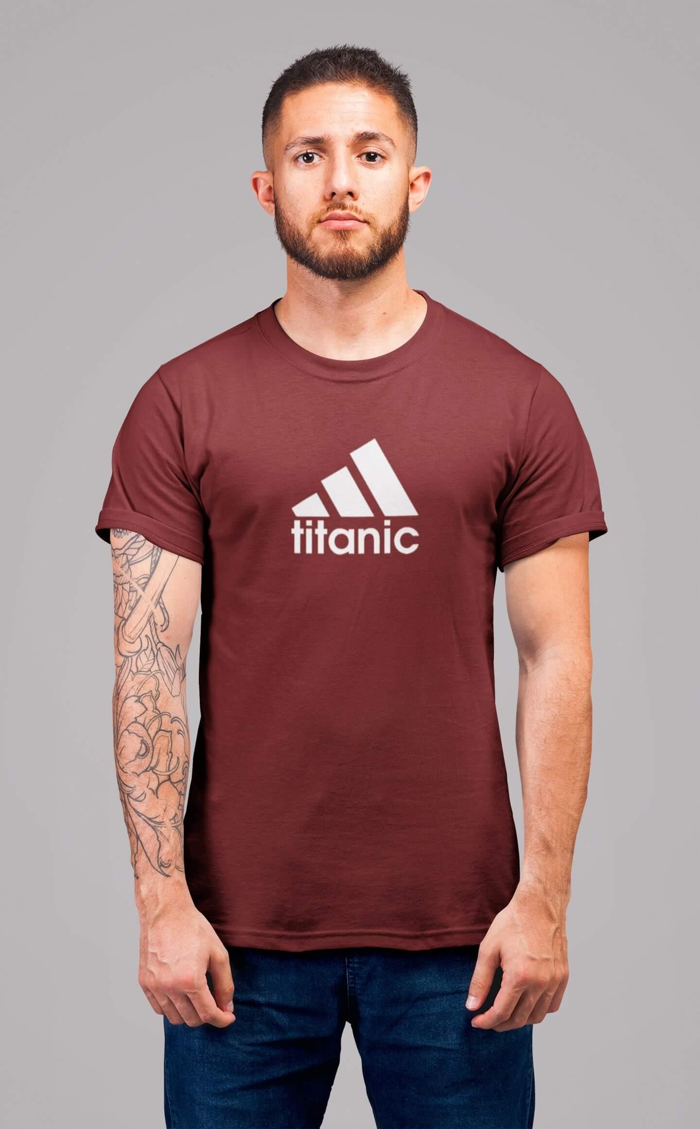 MMO Pánske tričko Titanic Vyberte farbu: Bordová, Vyberte veľkosť: XS