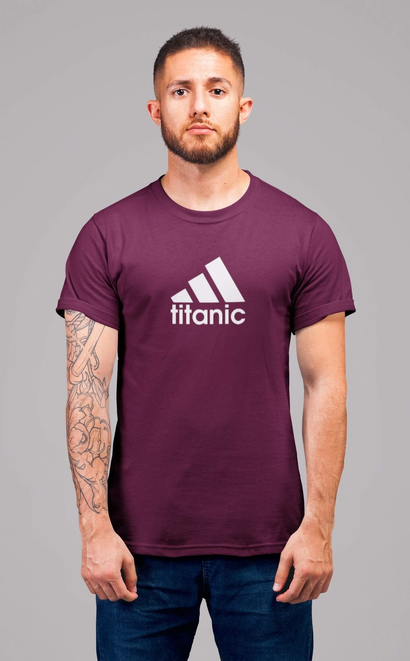 MMO Pánske tričko Titanic Vyberte farbu: Fuchsiová, Vyberte veľkosť: XS