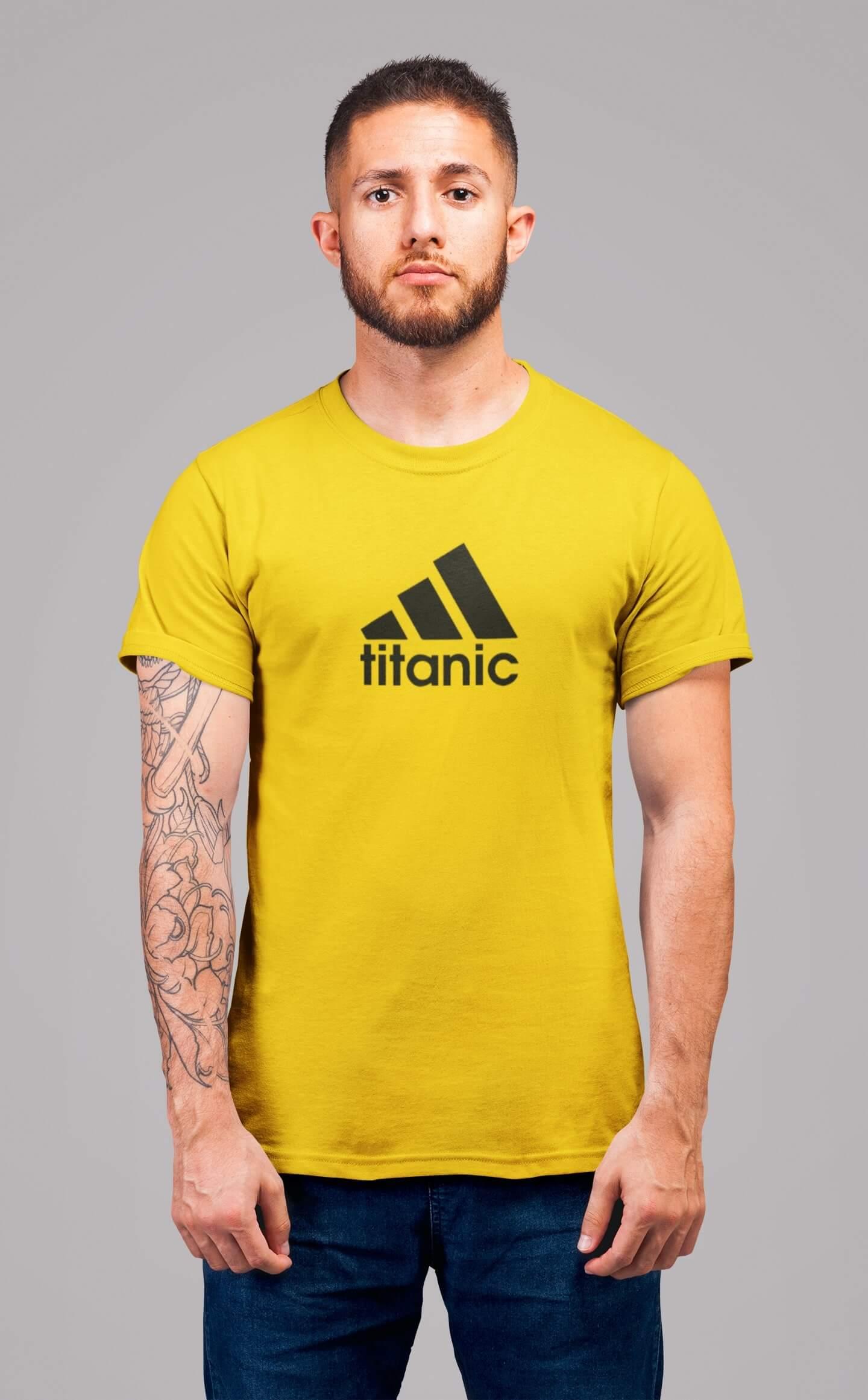 MMO Pánske tričko Titanic Vyberte farbu: Žltá, Vyberte veľkosť: 2XL