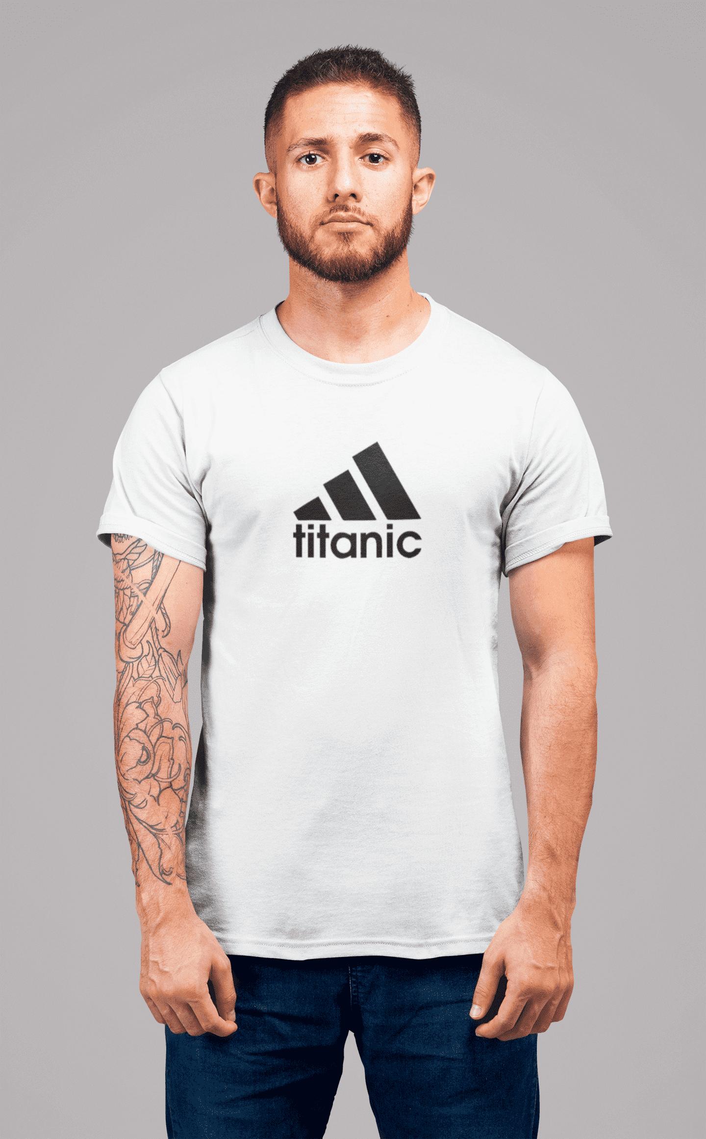 MMO Pánske tričko Titanic Vyberte farbu: Biela, Vyberte veľkosť: XL
