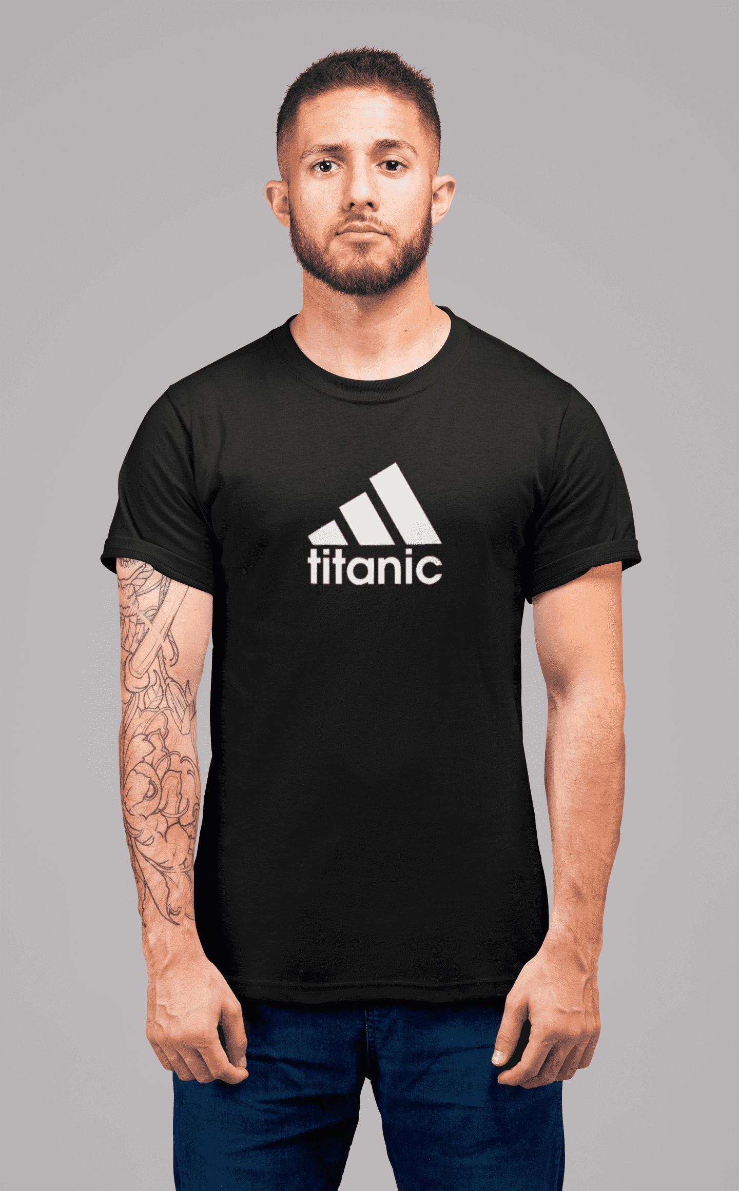 MMO Pánske tričko Titanic Vyberte farbu: Čierna, Vyberte veľkosť: XL