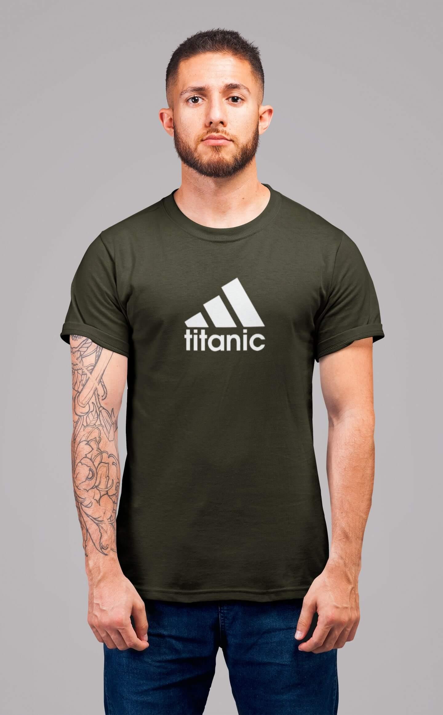 MMO Pánske tričko Titanic Vyberte farbu: Military, Vyberte veľkosť: 2XL