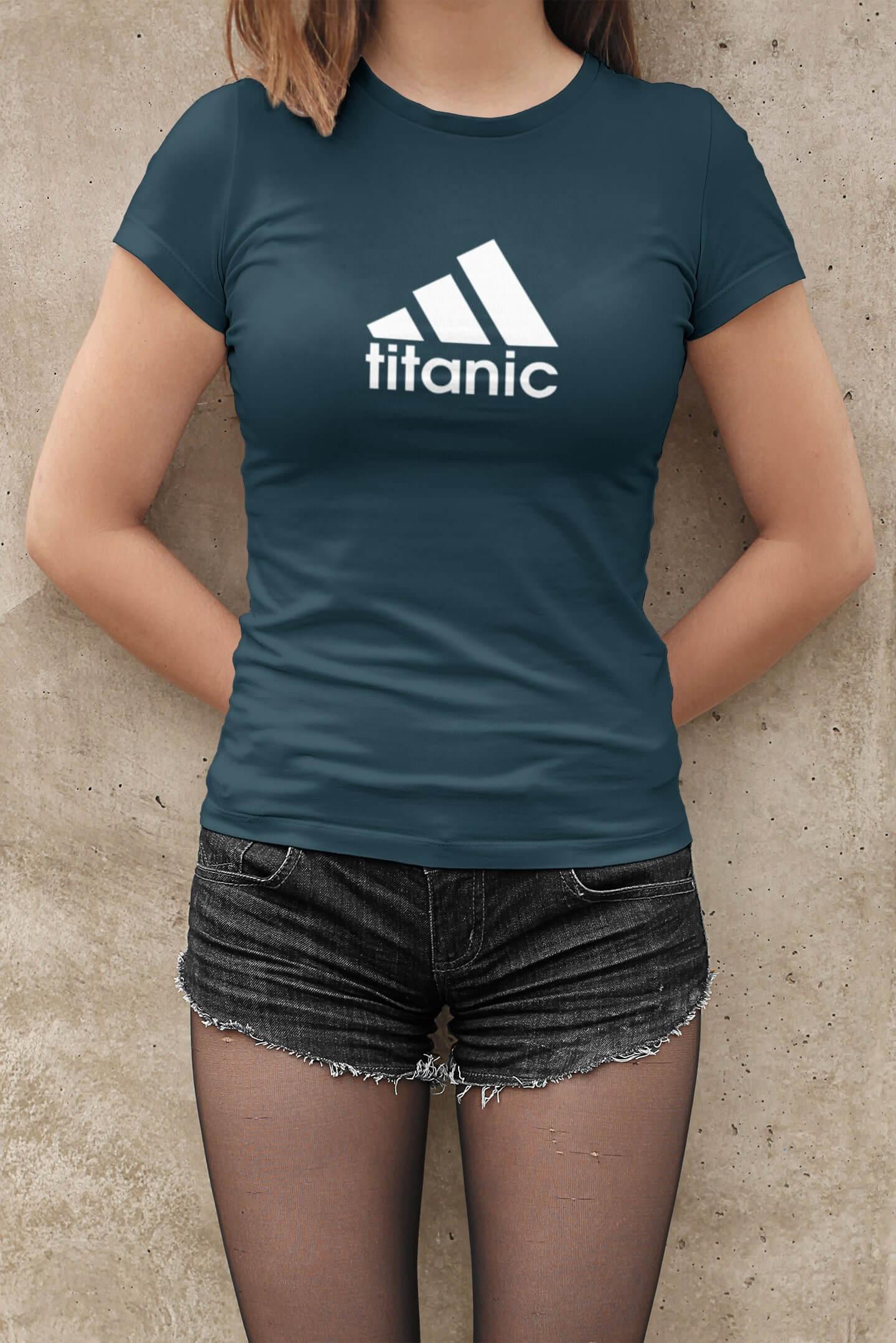 MMO Dámske tričko Titanic Vyberte farbu: Petrolejová modrá, Vyberte veľkosť: XL
